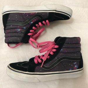 VANS Women 6.5 Galaxy High Rise Skateboard Shoes